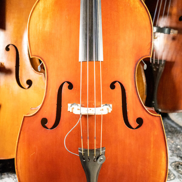 MLS 150B Antiqued Red Double Bass Front